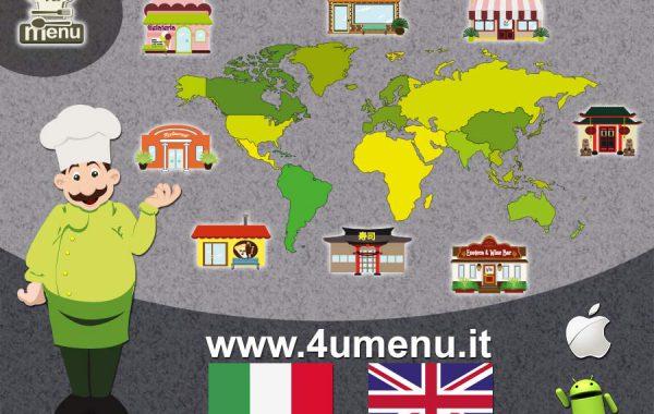 Grafica web per l'app mobile 4umenu