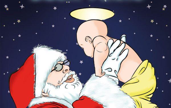Auguri di Buon Natale, illustrazione digitale