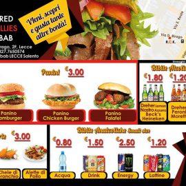 Flyer per Red Chillies Kebab, retro